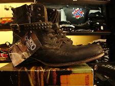 Stivaletti lacci e zip Boots Texani SANCHO vera pelle suola cuoio cucita ULTIMI
