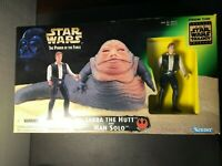 Star Wars POTF Jabba The Hutt and Han Solo Playset Trilogy Edition Kenner 1997