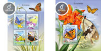 Butterflies Insects Schmetterlinge Papillons Sao Tome and Principe MNH stamp set