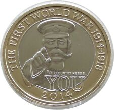 2014 First World War Outbreak Kitchener £2 Two Pound Coin Uncirculated