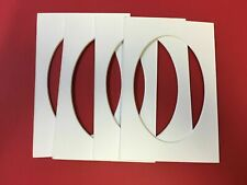 Picture Mats Set of 6 White 5x7 with 3x5 exact oval cutout