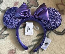 Serre-tête / Headband Disneyland Paris Minnie SEQUINS / Paillettes VIOLET LEV