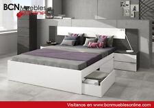 Conjunto de dormitorio modelo NOON: CABEZAL y 2 MESITAS.