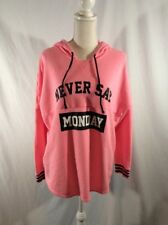 Pink never say Monday lightweight hoodie, sleepwear pajamas juniors size L 11/13