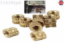 M3 x 3mm (L) - 4mm (OD) Metric Threaded Brass Knurl Round Insert Nuts