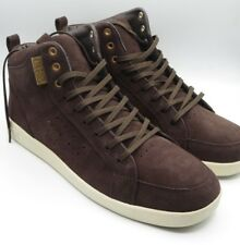 New Clae Russell Brown Umber Suede Mens Retro Fashion Sneaker Shoes Size 11