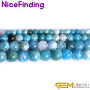 """Natural Hemimorphite Round Gemstone Loose Beads Jewelry Making 15"""" Wholesale DIY"""