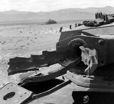 WWII B&W Photo Destroyed German Panzer IV Tank Gun Tunisia 1943  WW2 /4100