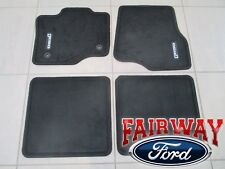 15 thru 16 F-150 Extended Cab OEM Ford Black Carpeted Floor Mat Set 4pc NEW