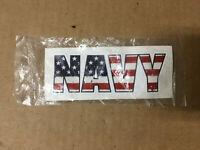 NAVY American Flag Vinyl Decal Sticker - Navy Bumper Sticker- Military Gift