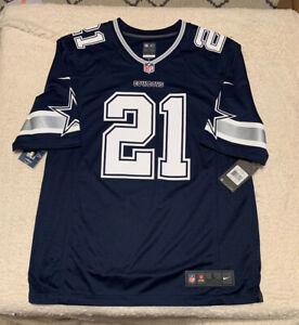 Dallas Cowboys Ezekiel Elliott Blue Replica Jersey Nike Brand New With Tag Sz L