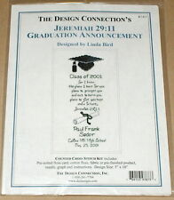 """Jeremiah 29:11 Graduation Announcement"" Religious Cross Stitch Kit NIP 5x10"""