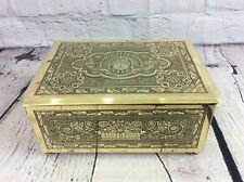 VINTAGE BRASS MUSICAL BOX / MUSIC / JEWELLERY BOX, FREE UK DELIVERY