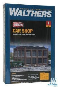 3228 Walthers Cornerstone Car Shop Repair Facility - N Scale