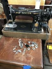 Singer Model 15 - Vintage Sewing Machine Clean Tested With Accessories And Case