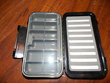 Fly fishing fly box split foam/12 compartment Waterproof (New)