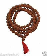 Rudraksha Mala 8mm Beads- 108+1 Beads Japa/ Rosary Mala 100% Natural & Original