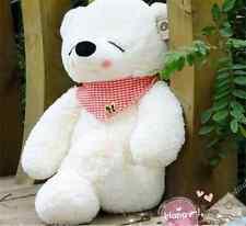 47in. Giant Big White Sleepy Teddy Bear Plush Soft Doll Xmas Birthday Gift 120cm