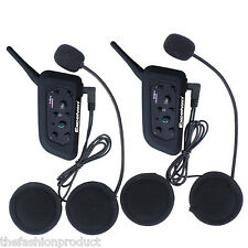 2x PC 1200M BT Moto Interfono Intercomunicador Interphone Bluetooth Auriculares