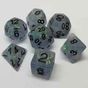 Luminous Moonshade 7 RPG Dice Set Polyhedral DND Dungeons Dragons Pathfinder