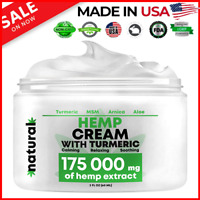 Fast Hemp Cream Pain Relief - 175,000 Mg - Relieves Inflammation Muscle Joint US