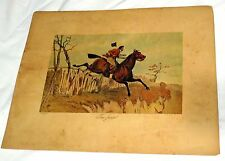 """The Jump"" by Henry Thomas Alken Equestrian Horse Colored Print"