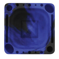 Pulsar Tap Tray - Premium Silicone Ashtray - Blue/Black Swirl