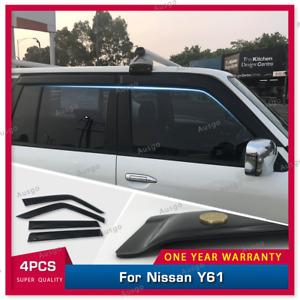 AUS Luxury Window Visor Weathershields for Nissan Patrol GU Y61 98-16 #T