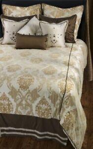 Rizzy Home BT-815 K Akebia 11-Piece Comforter Set, 100% Silk, King, Home Duvet