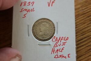 1837  SMALL 5   VF   CAPPED BUST HALF DIME