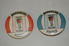 Nordberg Machinery Diesel Engines Milwaukee Visitor Plant Badge pinback buttons