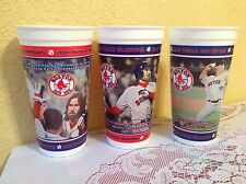 "BOSTON RED SOX 2004 WORLD CHAMPIONS 3 CUP SET 6.5"" MLB DUNKIN DONUTS"