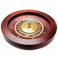 """18"""" Casino Grade Deluxe Wooden Roulette Wheel With Two Ceramic Pills BRAND NEW"""
