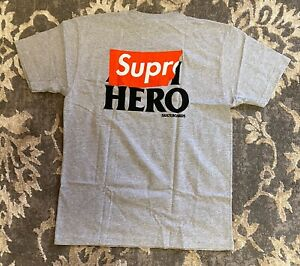 Supreme Anti Hero Pocket Tee T Shirt Grey Mens Sz Large S/S 2014 NEW!!!