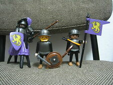 Playmobil - Medieval - Oficial Soldado Dragon Amarillo Caballo- 3669 -(COMPLETO)