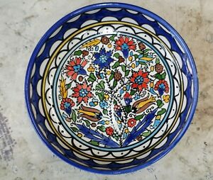 Flowers Bowl (Bouquet). Armenian Ceramic, Made in Israel,Jerusalem 18 cm