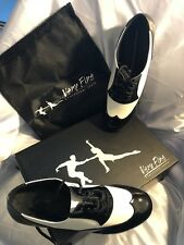 NIB Men Black And White Patenat Size 11 Very Fine Dance Shoes