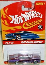 2005 Hot Wheels 5-25 Classic Series # 1 Purple '67 Dodge Charger Diecast 8+ Thai