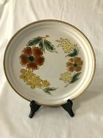"Imperial Stoneware Mountain Song 10 3/4"" Dinner Plate Japan Orange Yellow Brown"