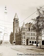Steele High School & Soldier's Memorial, Dayton, Ohio 1905- Historic Photo Print