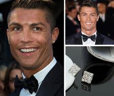 Men's/Boy's: RONALDO 18ct MAGNETIC White Gold Cubic Zirconia Crystal Earrings