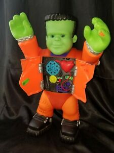"VINTAGE 16"" FRANKENSTEIN PLAY TOY BY PLAYSKOOL boy doll monster Halloween gift"