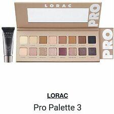 ORIGINAL Lorac Pro Palette 3 Shimmer and Matte 16 Eyeshadow PLUS Eye Primer USA