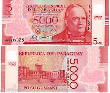 Paraguay Billet 5000 Guaranie 2011 ( 2013 ) POLYMER  NOUVEAU NEW UNC NEUF
