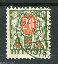 SUISSE 1924-26, timbre CLASSIQUE TAXE n° 58, FLEURS, oblitéré
