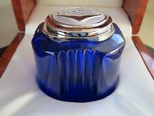 Visconti blue crystal and palladium desk ink well