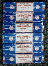 Satya Sai Baba Nag Champa Incense Sticks 6 x 40 Grams, 240 Grams Bulk Lot