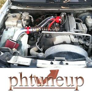 RED 2002-2005 Chevy TrailBlazer GMC Envoy  4.2 4.2L AIR INTAKE KIT + FILTER
