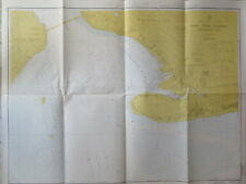 vintage NAUTICAL CHART NEW YORK HARBOR GRAVESEND BAY 1968 MAP