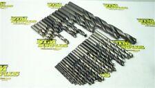 "New listing Lot Of 37 Assorted Hss Straight Shank Drills 9/64"" To 13/16"" Ptd C-L Btrfld"